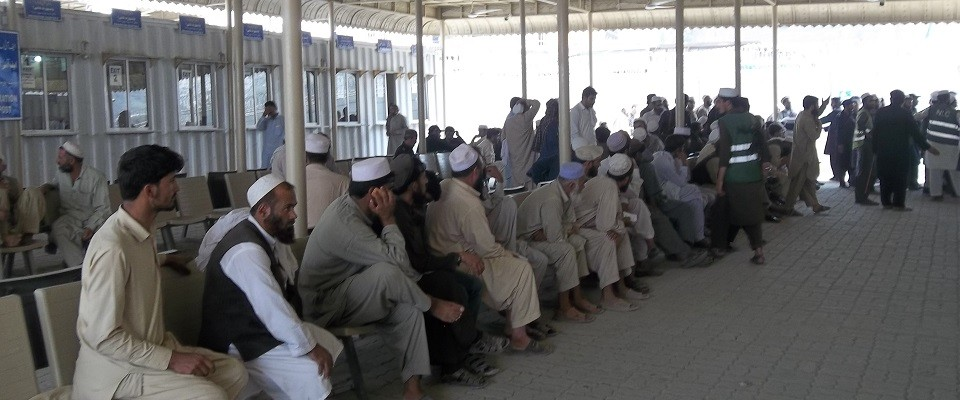 Afghan Refugees waiting for their turn for repatriation through voluntary repatriation center Peshawar.